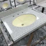 Partes superiores de superfície contínuas de pedra artificiais da vaidade do banheiro do hotel de Kingkonree