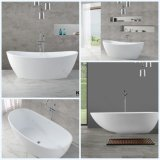 Самомоднейшая ванна ванной комнаты, ушаты ванны овальной каменной смолаы Freestanding