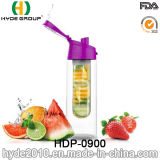 2016 최신 판매 BPA는 해방한다 플라스틱 과일 주입 병, 주문을 받아서 만들어진 Tritan 과일 물병 (HDP-0900)를