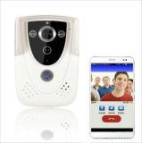 L'intercom visuel sans fil de porte de WiFi d'IP de téléphone de Bell de caméra de sécurité visuelle de maison par l'intermédiaire du contrôle mobile de smartphone déverrouillent record prennent la carte SIM de photo