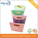 Bolsa de papel plegable de las compras del color de la manera (QY150298)