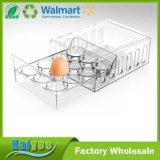 Organizador transparente claro de encargo al por mayor del almacenaje del sostenedor del huevo de la cocina