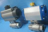 Dos piezas de válvula de bola neumática (válvula de bola 2PC)