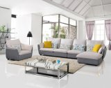 Popular 3 Seater Fabric Corner Sofa Set Mobiliário de sala de estar