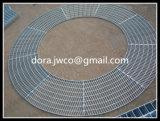De loopbrug randde Ringvormige Grating van het Staal