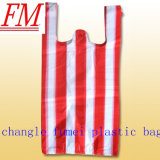 Nieuwe het Winkelen van de Streep van Materialen Plastic Zak met Kleine Grootte