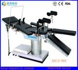 Tavolo operatorio idraulico multifunzionale manuale dell'ospedale fluoroscopico di alta qualità