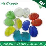 Piqûre en verre colorée d'incendie de pierre gemme