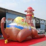 caractère de publicité gonflable élevé de chameau de dessin animé de 20FT grand