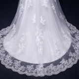 Real Photos Lace Tulle Mermaid Wedding Dreses (TM-MS026)