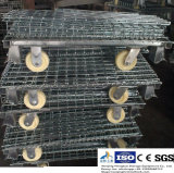 Escaninho Foldable do engranzamento de fio de aço