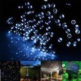 Iluminación solar de la cadena de la Navidad LED del efecto del centelleo
