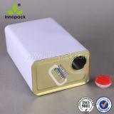 Boîtes en fer blanc rectangulaires avec la boucle à bouchon vissable et en plastique pour l'usage chimique de pétrole