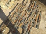 رقيقة صدئة أردواز إسمنت جير حجارة لون لأنّ جدار