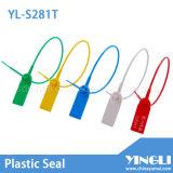 Selo de plástico de segurança de médio porte com inserção de metal