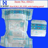 Couche-culotte jetable économique de bébé pour le fabricant en gros de couche-culotte de bébé en Chine (421)
