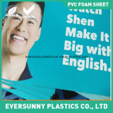 Feuille libre de mousse de PVC de qualité pour l'impression d'écran
