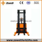 전기 새로운 1.5 톤은 최대 5.5m 드는 고도를 가진 쌓아올리는 기계를 걸터앉는다