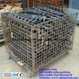 Foladable & contenitore accatastabile del pallet della rete metallica per memoria del magazzino