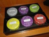 Tres piezas de regalo de la vela en caja de lujo UV