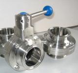 Санитарная сваренная клапан-бабочка Ss304