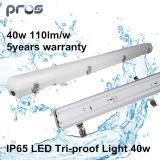 Garantia da luz 1.2m 40W 5years do diodo emissor de luz da Tri-Prova IP65