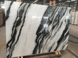Onyx White Marble Tiles e Slab con Black Vein