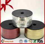 Des Weihnachtskräuselnfarbband des dekorativen Rot-5mm Polyester-500yds