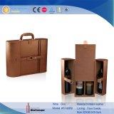 Ventes en gros de empaquetage en cuir de boîte de boîte faite sur commande classique à vin