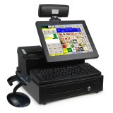 Registo de dinheiro terminal Point-of-Sale eletrônico do sistema posição