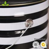 18L de Stoel van de Barkruk van de Opslag van de Emmer van het Tin van het Metaal van 20 Liter met de Zwarte Dekking van het Zadel van het Leer van Pu
