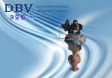 Tipo funcionado neumático vávula de Wcb V de bola de la oblea
