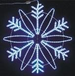 크리스마스 눈송이 주제 크리스마스에 의하여 점화되는 옥외 훈장
