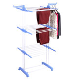 Jp-Cr300W PP Plastic Three Tier Clothes Drying Hanger with Wheels