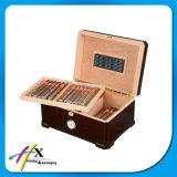 Rectángulo de empaquetado del cedro del cigarro de madera de lujo del Humidor con diseño de las piernas