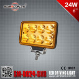 6 인치 24W Rectangle LED Driving Light (SM-6024-SXB)