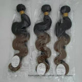 "16 "" 인간적인 Virgin Hair Extension Ombre 2tone Wave Hair"