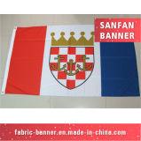 Farbenreiche gedruckt knallen oben Gewebe-Haken-u. Schleifen-Ausstellungsstand-Ausstellung-Fahne