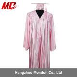 Vestido cor-de-rosa brilhante do tampão da graduação de High School da promoção