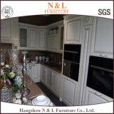 N&Lの白い純木のWellmaxの食器棚の引出しのバスケット