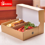 Para llevar sándwich de pan de Brown Kraft Food Box Plato