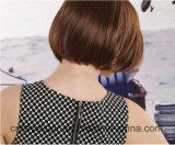 작풍 한 최신 판 여성 머리 배 꽃 헤드 가발