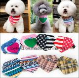 Bandana stampato registrabile del cane della sciarpa del cotone dell'animale domestico