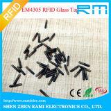 O Tag de vidro o mais atrasado de RFID/cápsula de vidro com código II de Em4305/I