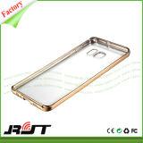 Electrochapar la caja suave de la contraportada TPU del marco para el borde de Samsung S7