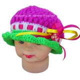 Шлем Beanie ребёнка вязания крючком руки Beaded с шнурком