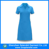 Women를 위한 심천 Wholesale Cotton Blue Polo Shirt Dresses