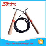 Speed réglable Cable Jump Rope avec Wooden Handle, Jump Rope, Adjustable High Speed Jump Rope, Crossfit Jump Rope