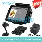 15 posición de la pantalla táctil de la caja registradora del sistema de la posición de la pulgada TPV (SGT-665)
