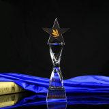 Kristallglas-Trophäe mit Fünf-Spitzem Stern